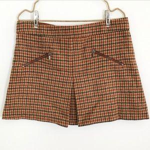 Zara girls plaid skirt